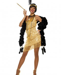 Women's Dazzling Gold Flapper Costume