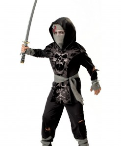 Kids Dark Zombie Ninja Costume