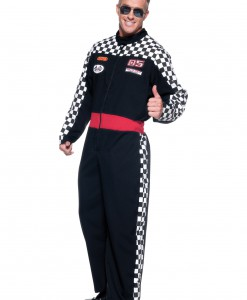 Mens Plus Race Car Driver Costume
