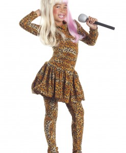 Child Leopard Rap Superstar Costume