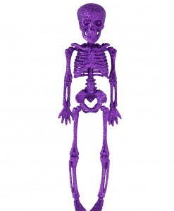 11.5 Purple Glitter Skeleton