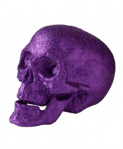 5'' Small Purple Glitter Skull