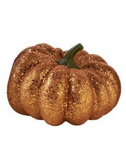 6.5 Round Orange Glitter Pumpkin