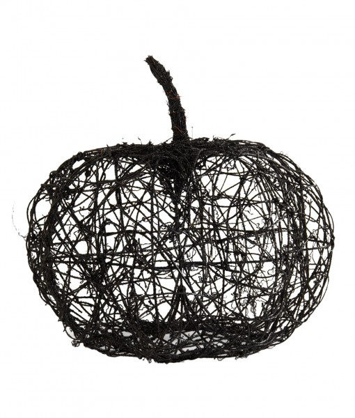 16.5 Black Wire Glitter Pumpkin