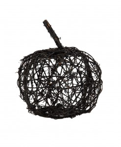9.5 Black Wire Glitter Pumpkin