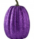 11 Tall Purple Glitter Pumpkin