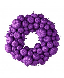 24 Purple Glitter Pumpkin Wreath