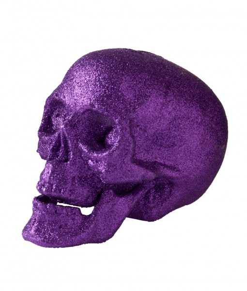 7 Large Purple Glitter Skull