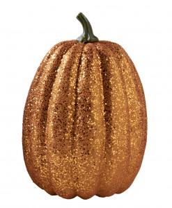 11 Tall Orange Glitter Pumpkin