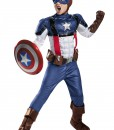 Boys Retro Captain America Prestige Costume
