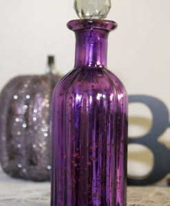 9 Purple Mercury Glass Perfume Bottle