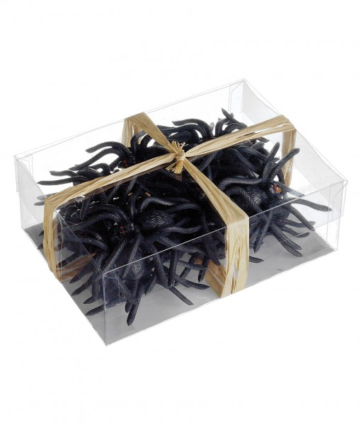 24 Rubber Spiders in a Box
