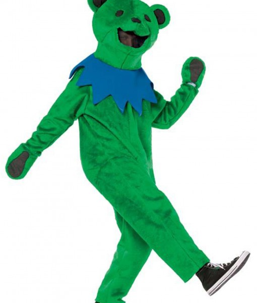 Adult Grateful Dead Green Dancing Bear Costume