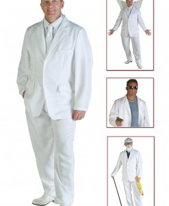 Men's White Suit Costume