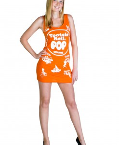 Tootsie Roll Pop Orange Tank Dress
