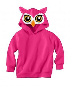 Owl Face Hooded Sweatshirt