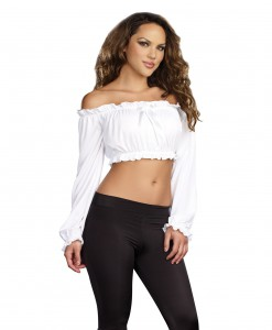 Women's White Peasant Top