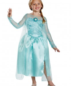 Girls Frozen Classic Elsa Snow Queen Gown