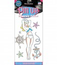 Sailor Pin Up Girl Temporary Tattoos
