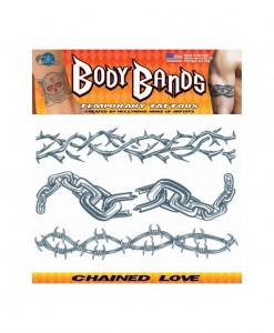Chained Love Temporary Tattoos