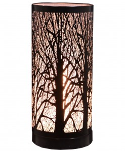 Black 11.5 Birch Table Lamp