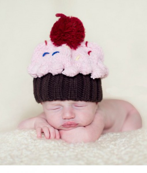 Infant Cupcake Sprinkled with Love Hat