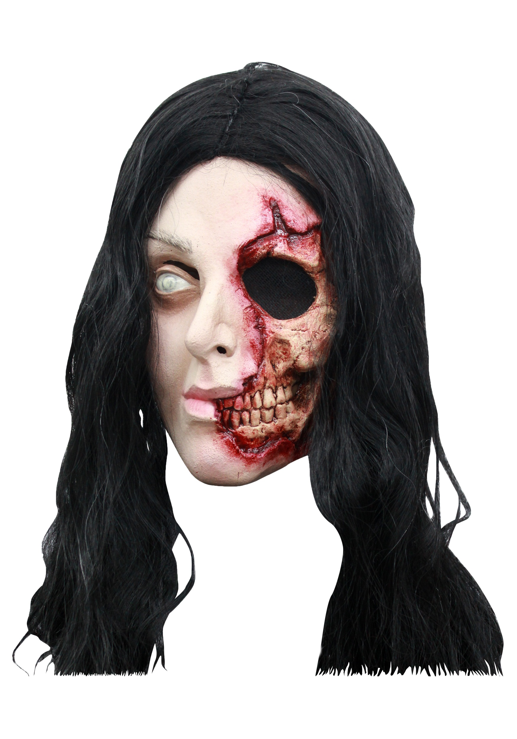 Pretty Zombie Woman Mask Halloween Costume Ideas 2019