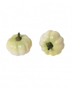 12-Piece Small White Pumpkins Set