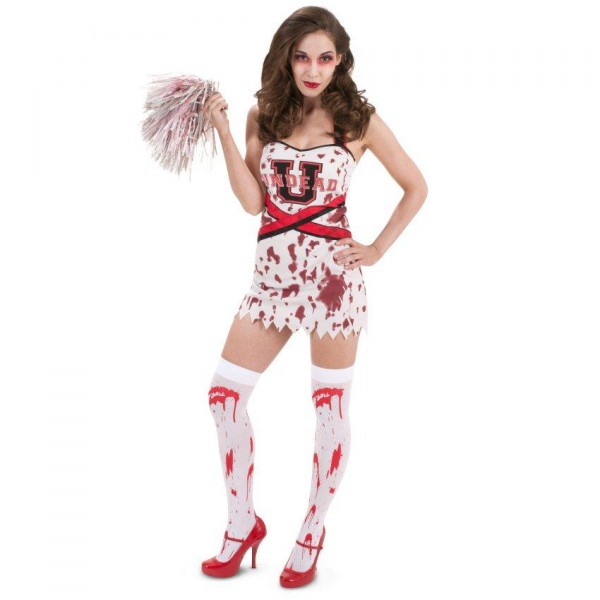 Sexy zombie cheerleader costume