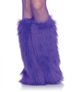 Furry Purple Leg Warmers