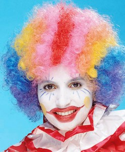 Rainbow Economy Clown Wig