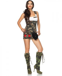 Combat Cutie Adult Costume - Clearance Size Large