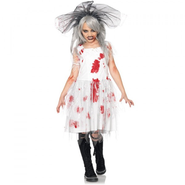 Dead Bride Halloween Costume.Zombie Bride Child Costume