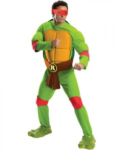 Teenage Mutant Ninja Turtles Deluxe Raphael Adult Costume