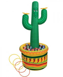 5' Inflatable Cactus Cooler / Ring Toss Game