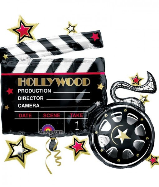 Hollywood Movie Clapboard Jumbo 29 Foil Balloon