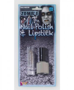 Zombie Nail Polish and Lipstick