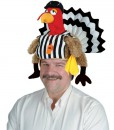 Plush Referee Turkey Hat Adult
