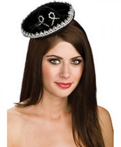 Black Silver Mini Sombrero Adult