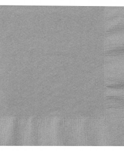 Shimmering Silver (Silver) Lunch Napkins (50 count)