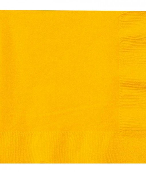 School Bus Yellow (Yellow) Lunch Napkins (50 count)