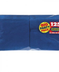 Bright Royal Blue Big Party Pack - Beverage Napkins (125 count)