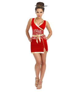 Red Geisha Plus Size Dress