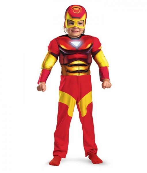 Iron Man Muscle Toddler Costume