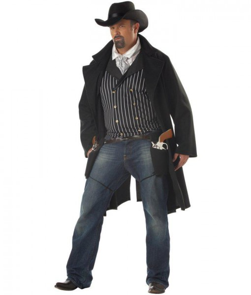 Gunfighter Adult Plus Costume