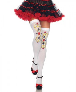Follow Suit Playing Card Thigh Highs (Adult)