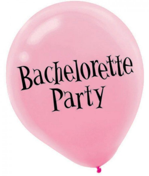 Bachelorette Latex Balloons Asst. (6 count)