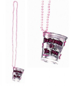 Bachelorette Shot Glass on a Beaded Necklace