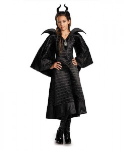 Maleficent Christening Deluxe Black Girls Dress Costume