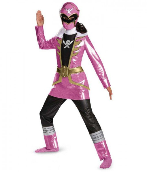 Power Ranger Super Megaforce Deluxe Pink Ranger Girls Costume